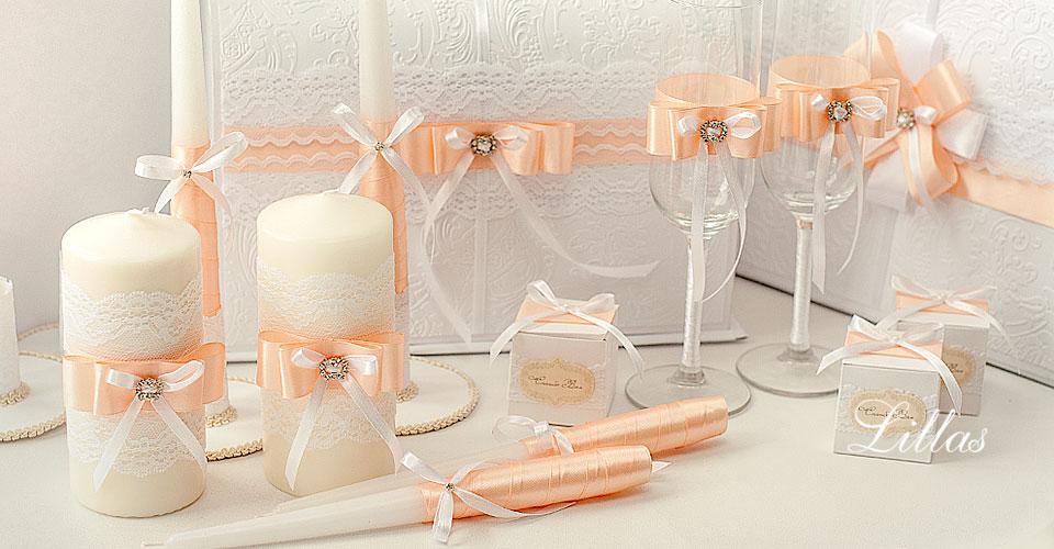 Свадебные аксессуары своими руками в персиковом цвете 63